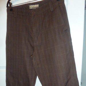 Men's Billabong brown checked pants